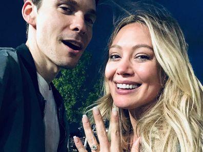 Hilary Duff, Michael Koma, wedding, married, backyard