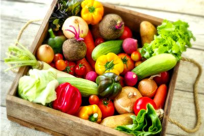 Vegetables (five serves a day — at least)