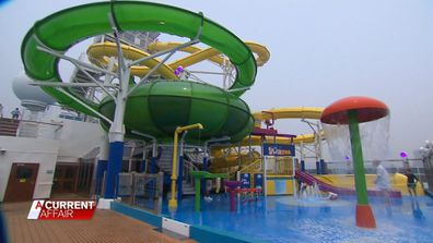 An on-ship water park will keep the kids entertained.