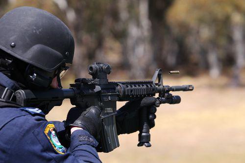 The new guns are Colt M4 semi-automatic rifles.