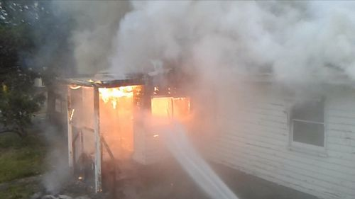 Four crews and about 20 firefighters responded to the blaze in Ringwood last night, after it left the surrounding area blanketed in smoke.