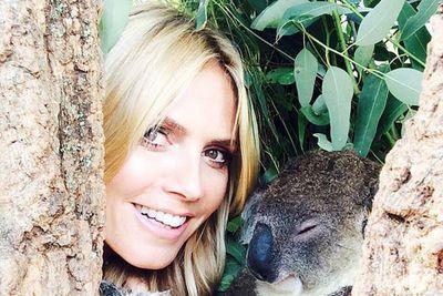 """@heidiklum: """"How cute is he !!!!! @HeidiKlumIntimates #Sydney"""""""