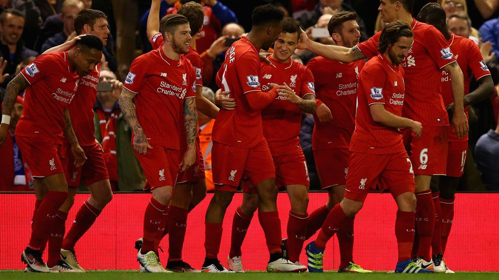 Liverpool hit 10-man Everton for four