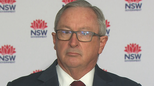 NSW Health Minister Brad Hazard speaks at a press conference on July 19, 2021.