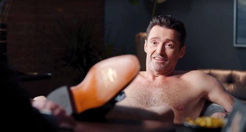 Hugh Jackman, R.M. Williams, commercial, nude