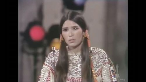 Marlon Brando sent Native American woman Sacheen Littlefeather to collect his award for The Godfather.