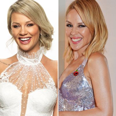 Jessika and Kylie Minogue