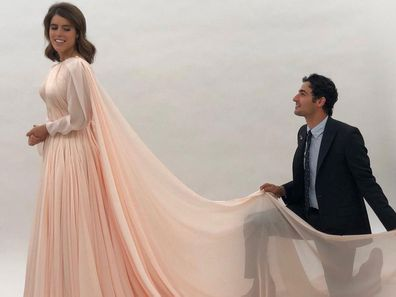 Princess Eugenie with designer Zac Posen