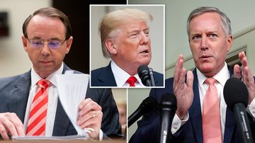 A group of 11 conservatives has introduced articles of impeachment against Deputy Attorney General Rod Rosenstein, the official who oversees special counsel Robert Mueller's Russia investigation. Picture: AP