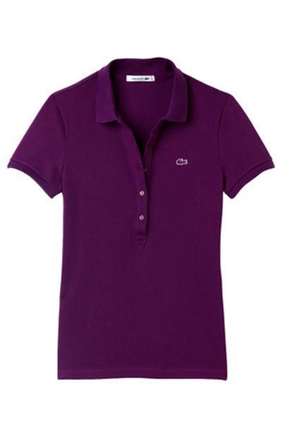 """<a href=""""http://www.myer.com.au/shop/mystore/clothing/lacoste-445259170--1"""" target=""""_blank"""">Lacoste</a> slim fit 5 button basic polo, $109<br>"""
