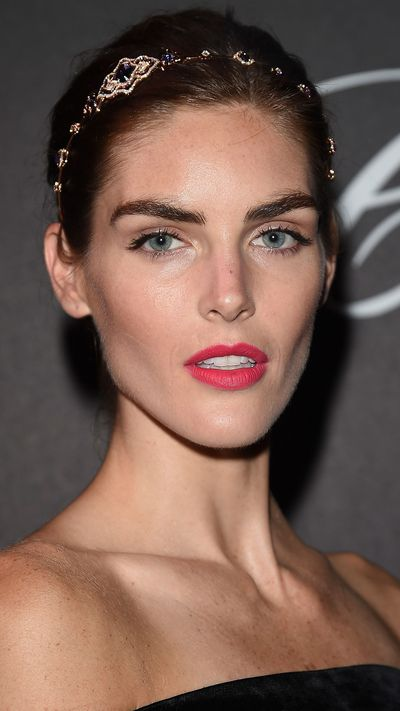 Hilary Rhoda wears a Chopard headband to the Chopard Imperiale Private Dinner.