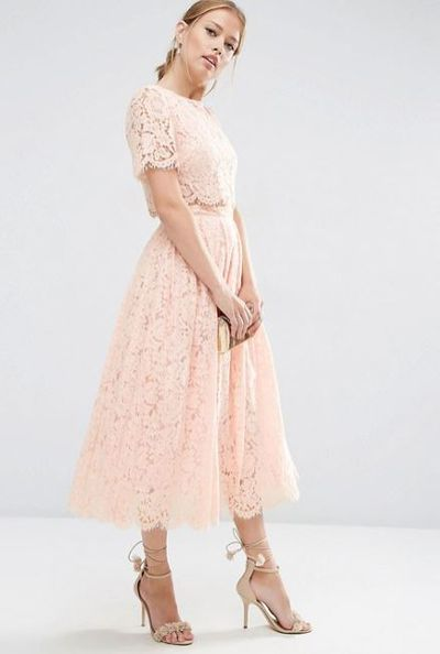 "<p>Teacher's pet</p> <p><a href=""http://www.asos.com/au/asos/asos-lace-crop-top-midi-prom-dress/prd/6747535?iid=6747535&amp;clr=Nude&amp;SearchQuery=&amp;cid=15156&amp;pgesize=36&amp;pge=0&amp;totalstyles=82&amp;gridsize=3&amp;gridrow=8&amp;gridcolumn=3"" target=""_blank"">Asos</a> lace crop top midi prom dress, $147<br /> </p>"