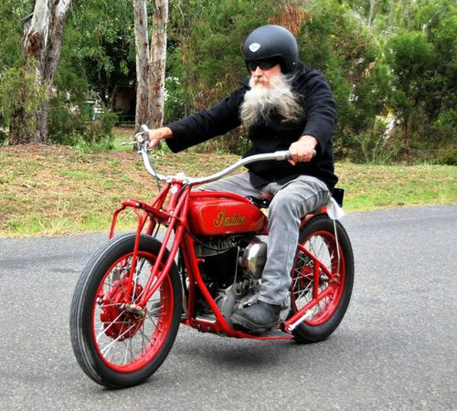 Mr Grylls started restoring Indian motorcycles at just 12 years old.