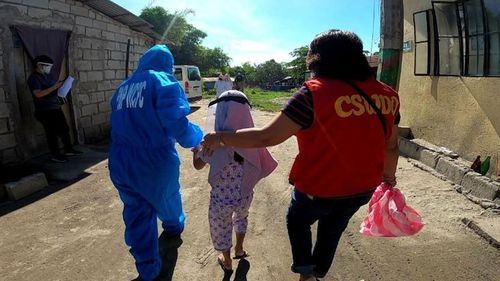 Nine children have been rescued from an abuse ring in the Philippines.