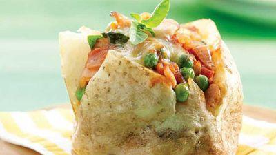 """Recipe: <a href=""""http://kitchen.nine.com.au/2016/05/13/11/11/pea-stuffed-potatoes"""" target=""""_top"""">Pea stuffed potatoes</a>"""