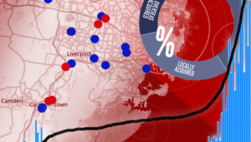 Interactive: Australia's coronavirus cases by numbers and hotspot locations