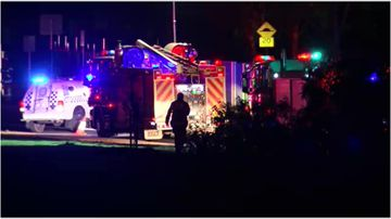 A motorcyclist has died after they were hit by a car in Melbourne's northwest overnight.
