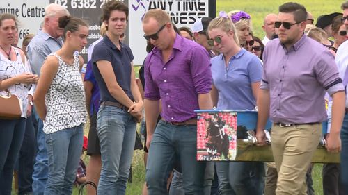 She was farewelled by family and friends today. (9NEWS)