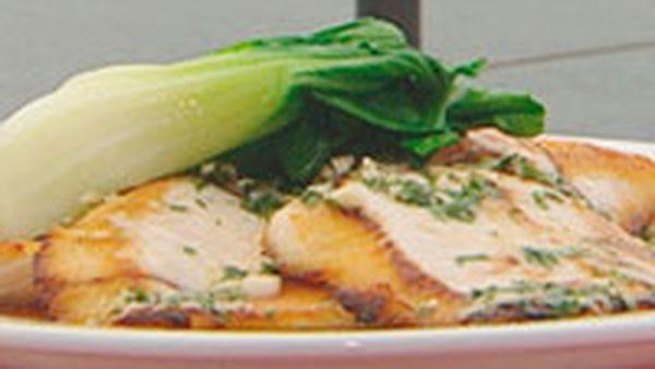 Barbecue hiramasa kingfish with hoisin glaze