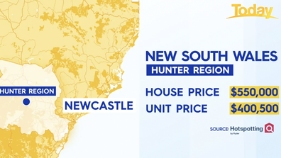 The Hunter Region in NSW has also been deemed a property hotspot.