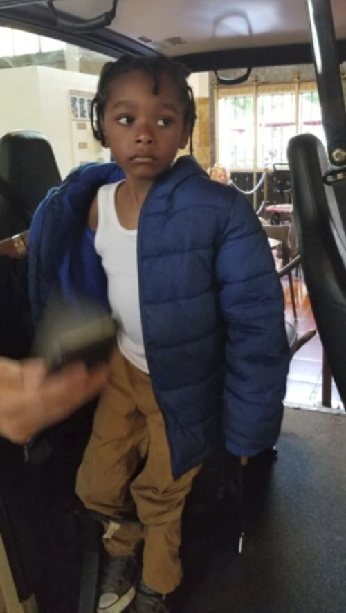This photo released by the Los Angeles Police Department shows a boy found at Union Station in downtown Los Angeles. Transit officers were alerted to the unattended child around 7 p.m. Wednesday, July 4, 2018 and found that the boy is deaf and does not communicate. A sign language interpreter tried to communicate with the boy but was unsuccessful. The Police Department says the child is also possibly autistic. (Los Angeles Police Department via AP)