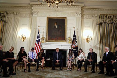 President Donald Trump listened to Sam speak about Australia's response to the Port Arthur Massacre. (AAP)