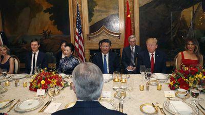Donald Trump with Xi Jinping. (AAP)