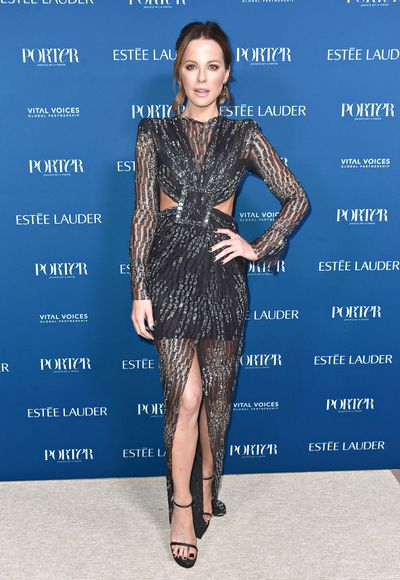 Kate Beckinsale attends PORTER's Third Annual Incredible Women Gala at The Ebell of Los Angeles on October 9, 2018 in Los Angeles, California
