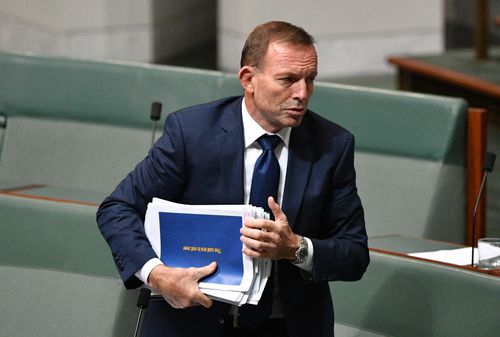 Tony Abbott still might cross the floor and vote against the government on its National Energy Guarantee. Picture: AAP.