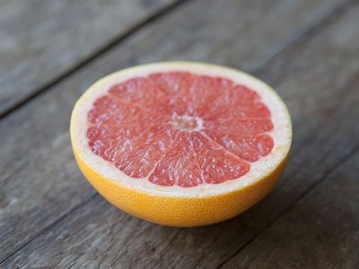 Scrub your tub with a salty grapefruit