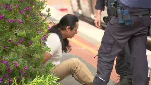 The accused attacker was arrested at a Williamstown train station.