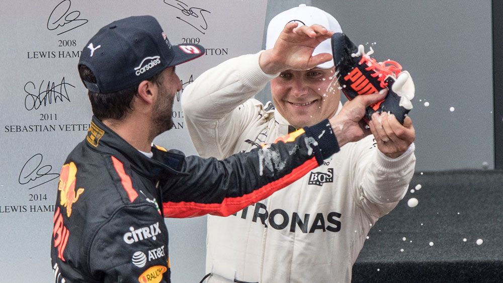 Valtteri Bottas holds off Sebastian Vettel to win Austrian GP while Daniel Ricciardo finishes third