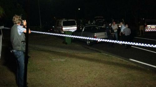 The scene of the police shooting at Nakina Street in Southport. (9NEWS/Carrie Greenbank)