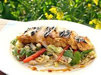 Tamarind, lime and honey chicken salad