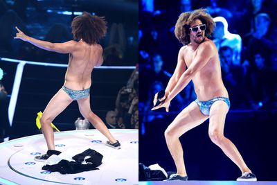 Redfoo didn't show us his XXX Factor on <i>X Factor Australia</i> (lucky for that), but he did flash too much crack while hosting the MTV Europe Music Awards.<br/><br/>Scroll to the next slides for some of these naughty NSFW scenes!