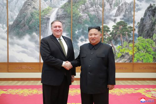 Kim Jong-un and Mr Pompeo held talks about President Trump's plans and future relations with  North Korea.
