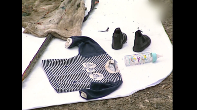 Some of the items of clothing recovered when the grim discovery of Jaidyn's body was discovered.