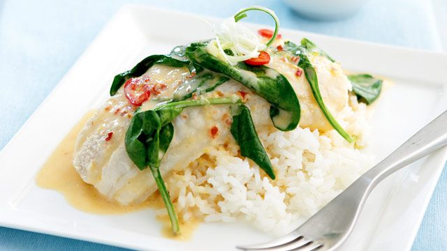 Coconut poached fish for $10