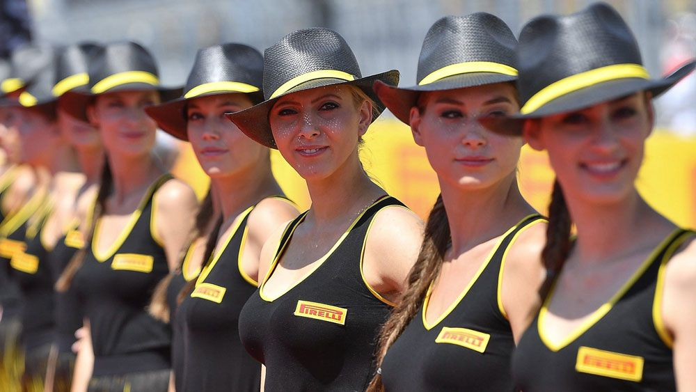 Formula One grid girls.