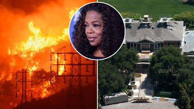 Oprah's mansion among homes under fire threat