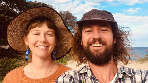 Anita and Joel North on their road trip to Sydney for Joel's brain surgery.