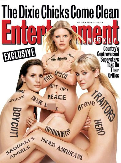 Dixie Chicks, The Chicks, cover, nude, Entertainment Weekly, 2003