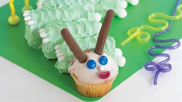Crazy caterpillar cake