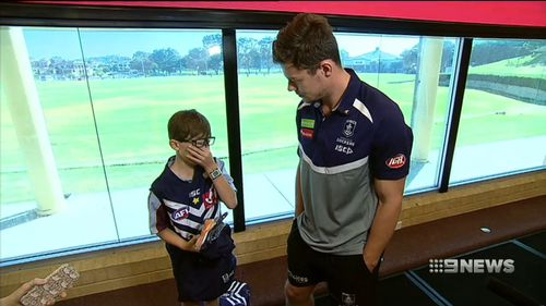 Heath is stoked he gets to train with the side. (9NEWS)