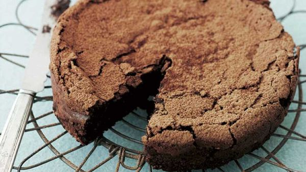 Image: Try our flourless chocolate hazelnut cake