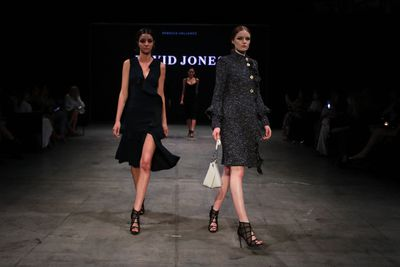 Models wearing Rebecca Vallance at the David Jones Autumn Winter 2018 Collections show