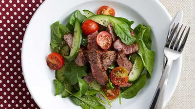 "Nothing like a good steak for Australia Day -&nbsp;<a href=""http://kitchen.nine.com.au/2016/05/16/10/51/smoky-paprika-steak-salad-for-10"" target=""_top"">Smoky paprika steak salad</a>&nbsp;recipe"