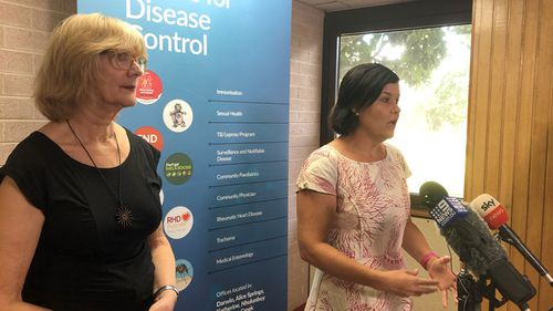 Director of NT's Centtre For Disease Control Vicki Krause and NT Health Minister Natasha Fyles today.