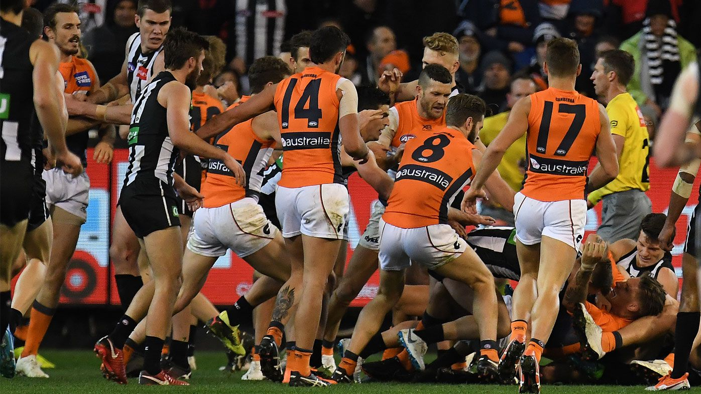 AFL: De Goey screamer sparks all-in brawl