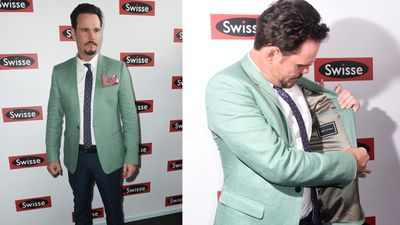 Kevin Dillon was dressed by Jack London. Although, he apparently had to check when asked. (AAP)